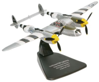 Oxford Aviation's 1:72 scale USAAF Lockheed P-38J Lightning Interceptor - Major Maurice McLary, 55th Fighter Squadron, 20th Fighter Group, RAF Wittering, England, 1943