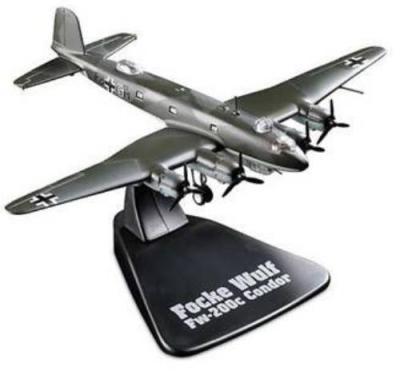 DeAgostini's 1:144 scale German Focke Wulf Fw 200C Heavy Bomber